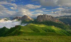 The beauty of the mountainous Adygea, Russia,