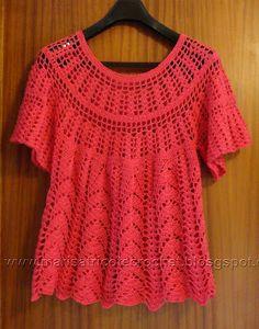 Marisa Tricot Crochet e Acessórios: Blusa Crochet Marisa