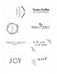 Free Printable Holiday Gift Tags |  Print the PDF from the website