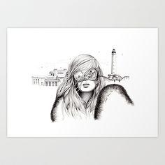 Biarritz Art Print by label tania - $18.72