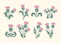 Floral emblem of Scotland, app symbol, design element, flat design illustration Flat Design Illustration, Illustration Art Drawing, Scotch Image, Scottish Thistle Tattoo, Scottish Flowers, Ornament Template, Thistle Flower, Quilling Craft, Tatoo
