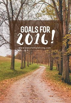 Goals for 2016! - Sweet Simple Living