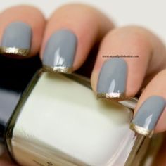 Nail Art - Funky French - http://www.mynailpolishonline.com/2015/11/nail-art-2/nail-art-funky-french-3/