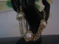 Vintage Goldtone Neklace with Pearl Accent