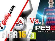 Perbedaan #FIFA16 Vs. #Pes16
