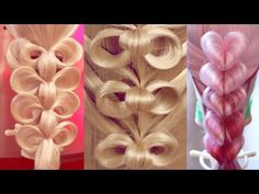 "Причёска на резинках - ""Лилии"" - Hair tutorial - Hairstyles by REM - YouTube"