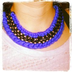 Handmade double chain necklace