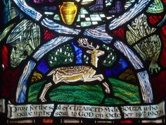 https://flic.kr/p/cQ4yy7   Running Stag   Detail of the baptistry window by Margaret Agnes Rope, a gem of a window filled with rich colour and detail.  It's easy for visitors to forget that the fine old town of Shrewsbury has a cathedral, it has large and impressive medieval churches that are a prominent feature of the townscape, but the cathedral fits none of these criteria, it is tucked away in a quiet side street, has no lofty spire or even tower and appears to be no larger than an…