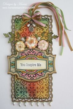 Very pretty tag. 7/137/2012; Marissa Job at 'Designs by Marisa' blog using JRS + Spellbinder dies