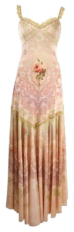 Michal Negrin Evening High Waist Pink Dress - there are several lovely gowns from this designer, including some in reds & greens at the link