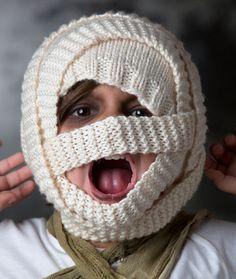 Mummy Hat Free Knitting Pattern from Red Heart Yarns
