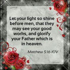 Matthew 5:16 KJV
