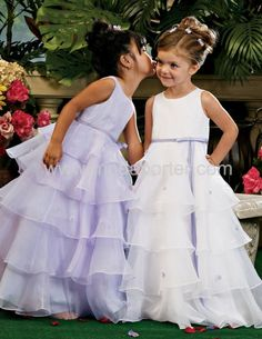 ruffled dress, maybe with an ivory belt.