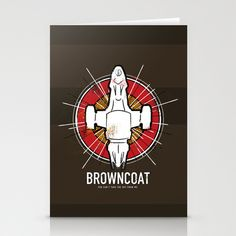 Browncoat ART | Browncoat Stationery Cards by girardin27 | Society6