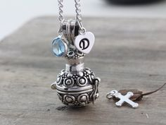 Sterling silver Ashes necklace Ashes pendant by LifeOfSilver, $44.80