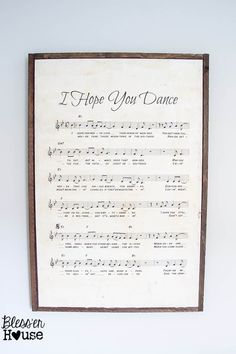 DIY Oversized Sheet Music Wooden Sign | Bless'er House -- and how to ANTIQUE paper with tea -- link to homemade stain
