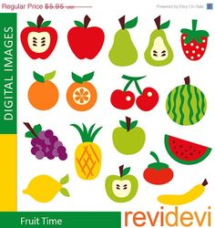 55 OFF Fruit Time  07340  Commercial use graphic by revidevi