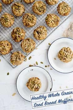 Healthy Seed Bread Muffins recipe - made with whole grains and SO easy!