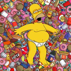 Beers Homer Simpson The Simpsons 2560x2560 wallpaper