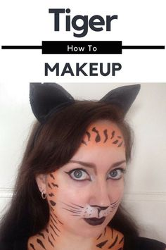 Heading to a costume party & want to dress up as a tiger? Check out my Tiger Makeup Tutorial for all the steps you need to transform yourself into a tiger! Tiger Makeup, Cat Makeup, Tiger Costume, Face Painting Tutorials, Traditional Japanese Tattoos, Tiger Face, Doll Tutorial, Animal Faces, Optical Illusions
