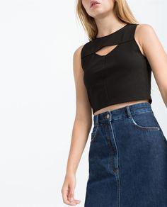 Obrázok 3 z CROP TOP S VÝSTRIHOM od spoločnosti Zara