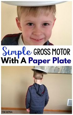Simple Gross Motor Game with paper plates. This gross motor activity is perfect for preschool gross motor, physical therapy, occupational therapy, and physical education. Pe Activities, Motor Skills Activities, Movement Activities, Gross Motor Skills, Infant Activities, Kindergarten Activities, Preschool Activities, Physical Activities For Preschoolers, Pediatric Physical Therapy