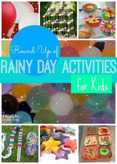 Rainy Day Activities Round-Up for Kids, Round Up on Frugal Coupon Living. Many ideas to pin for later, great Summer Ideas. Rainy Day Activities For Kids, Rainy Day Fun, Summer Activities, Toddler Activities, Games For Kids, Diy For Kids, Crafts For Kids, Diy Crafts, Rainy Days