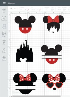 cricut vinyl projects How to make free Disney inspired SVG cut files within Cricut Design Space. Vinyle Cricut, Disney Land, Disney Disney, Disney Cups, Disney Babies, Disney Style, Mickey Mouse Silhouette, Silhouette Cameo Free, Silhouette Machine