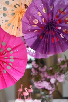 Punched Tissue Paper Fans DIY | Oh Happy Day!