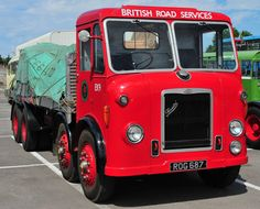 in British Road Services livery. Road Transport, British Rail, Classic Trucks, Classic Cars, Classic Motors, Train Car, Commercial Vehicle, Fire Engine, Vintage Trucks