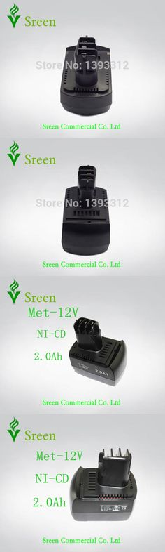 New Replacement 2000mAh Power Tool Battery for METABO Ni-CD 12V 2.0Ah BSZ12 BS12SP Free Shipping