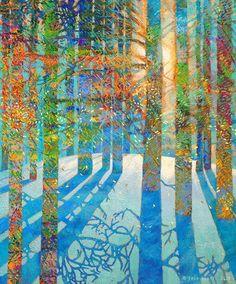 Finger painting artist Iris Scott trades her brush for her hands to create vibrantworks of art.