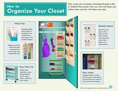 Great tips for getting your closet clean and organized!