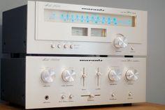 Vintage Marantz 2020 Tuner, and a Marantz 1060b Amp.