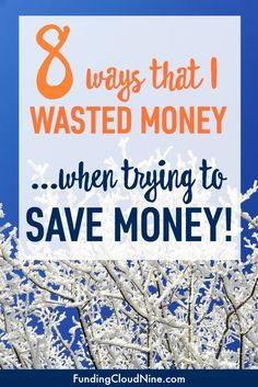 Saving money isn't always easy. In fact, there have been a few times where I've wasted money in my efforts to save money! Don't make these same mistakes!