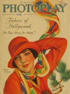 """""""Photoplay"""" magazine cover - December 1926 (Aileen Pringle)"""