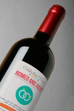 Personalized wedding winne bottle label