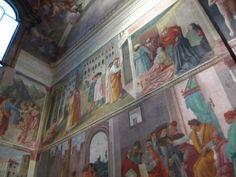 Masaccio's frescos in the Brancacci Chapel, Sta Maria del Carmine, Florence - these really do take your breath away