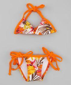 www.makenasurfwear.com Look what I found on #zulily! Triangle Bikini - Toddler #zulilyfinds
