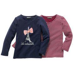 Camiseta estampada niña (lote de 2) - YoElijoElPrecio.com