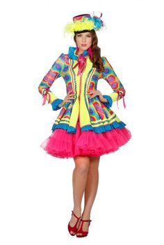 Light me up jasje - Hendriks Carnaval Halloween Town, Halloween Costumes, Costume Clown, Fancy Dress, Dress Up, Female Clown, Drawing Clothes, Carnival Costumes, Flower Dresses