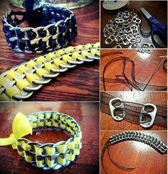 Cute diy can tab bracelet