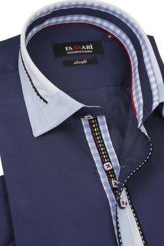 F8 Navy Shirt | Farrabi Slim Fit | Exclusive Luxury Shirts