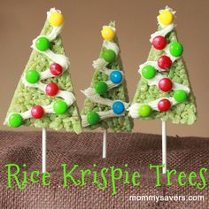 At Mommysavers, we know that Christmas Treats are a big part of holiday tradition and magic – for adults and kids alike! Last year, we brought you our first 25 Days of Holiday Treats post. 25 Days Of Christmas, Christmas Sweets, Christmas Cooking, Christmas Goodies, Christmas Holidays, Christmas Favors, Christmas Ideas, Christmas Crafts, Rice Krispies