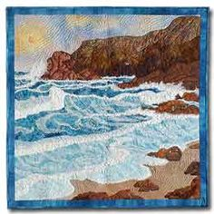 "Nancy Sterrett Martin's ""California Dreamin'"" art quilt."