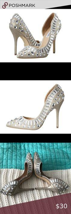 Steve Madden Galactik Heels Size 8.5 Good condition - see sides  Size 8.5 Steve Madden Shoes Heels