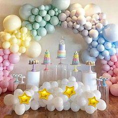 Magical Rainbow Pastel Balloons Garland Arch Kit Rainbow Theme Baby Shower, Rainbow Birthday Party, Baby Shower Balloons, Rainbow Baby, Rainbow Unicorn, Rainbow Pastel, Rainbow Balloon Arch, Balloon Garland, Unicorn Balloon