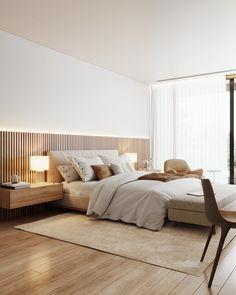Master Bedroom on Behance Master Bedroom Interior, Modern Master Bedroom, Bedroom Furniture Design, Home Room Design, Master Bedroom Design, Home Decor Bedroom, Home Interior Design, Apartment Master Bedroom, Calm Bedroom