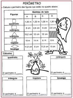 Calculando o perímetro | Sala de Aula – Profª Rérida