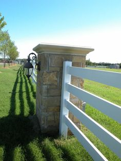 Young Equestrian Estate | GH2 Gralla Equine Architects...detail shot of the fence along the farm's entrance... by deborah